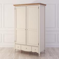 Шкаф бежевый 2 двери Leblanc W-LB130