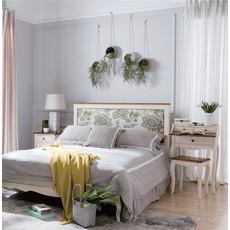 Кровать бежевого цвета с мягким изголовьем 174*212 GW12M
