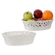 Овальное блюдо для фруктов Ажурное кружево