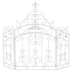 Каминный экран «Клермон» (белый антик)