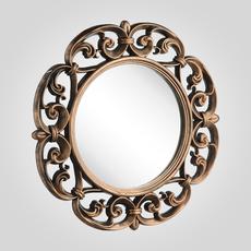 """Зеркало Золотистое Круглое """"Барокко"""" 60 см. (Полиуретан)"""