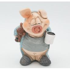 Статуэтка- копилка Свинки в кровати 11,5х11х12 RM08-0008 [CLONE]