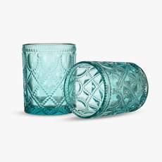 Бокал для Воды Арабский Розовый Орнамент 300 ml (набор 6 штук) [CLONE]