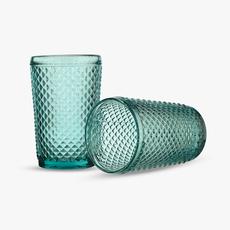 Стакан для Воды Сливовый Ромбик 300 ml (набор 6 штук) [CLONE]