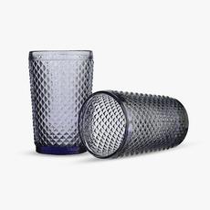 Стакан для Воды Темный Сливовый Ромбик 300 ml (набор 6 штук) [CLONE]