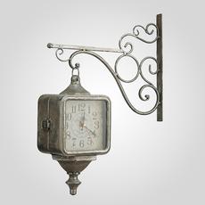 Часы Металлические на Кронштейне Старинные Золотистые [CLONE]