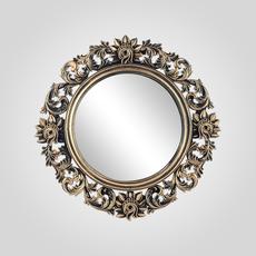 """Зеркало Настенное Круглое """"Королевский Винтаж"""" Белое 58 см.(Полимер) [CLONE]"""