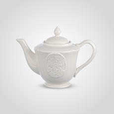 """Чайник Заварочный Фарфоровый Белый """"Коралл"""" [CLONE]"""