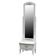 Зеркало напольное Итальянский орех-белый [CLONE]