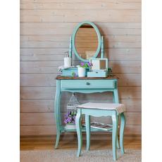 Туалетный столик с овальным зеркалом (голубой) ST9321 AB