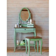 Туалетный столик с овальным зеркалом (зеленый) ST9321 G