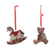 Елочная игрушка,подвеска,керамическая (от 24-х шт.) 1514910