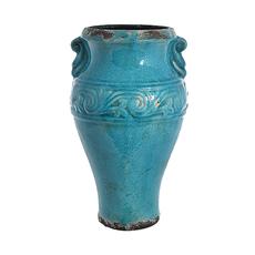 Ваза керамическая голубая GY120614L