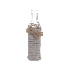 Ваза бутылка белая JKE-42