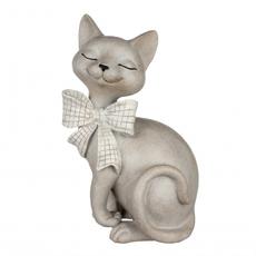 Статуэтка кошка с бантиком14,5х12х23 QJ99-0043