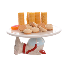 Керамическая тортница Новогодняя мышка (20см) от 2-х штук 1514116