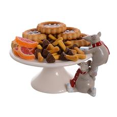 Керамическая тортница Новогодние мышки (17см) от 2-х штук 1514117