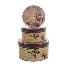 Набор подарочных коробок картон 3 шт 8840