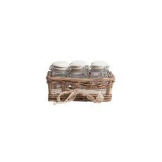 Набор для хранения в плетеной корзинке Appolto DG-D-949
