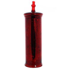 Банка декор красная большая JW4015-крас