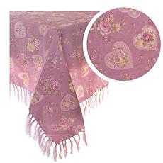 Скатерть розовая с сердечками 135х180 245 (135х180)