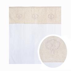 Штора белая с вышивкой от 2 шт 3422C-22M (штора)