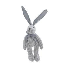 Мягкая игрушка кролик в полоску голубой (25см) AM10123-4