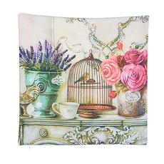Декоративная подушка Лаванда с розами LHD-1