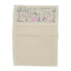 Cалфетка из льна с кружевом розовый Paris (от 2-х шт.) 40х55см 0399-5/40х55