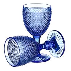 Бокал для вина яркий синий Ромбик