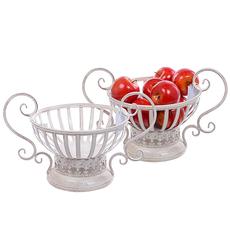 Ваза для фруктов Белый ажур PL08-6202