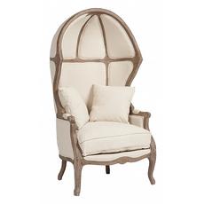 Кресло с капюшоном Versailles Chair Белый Лен DG-F-ACH407-1