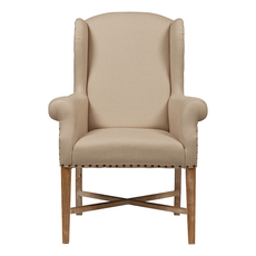 Кресло French Wing Chair Кремовый Лен DG-F-ACH483