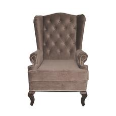 Каминное кресло с ушами Велюр Серо-коричневый DG-KA-F-SF04-Eni-08