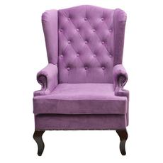 Каминное кресло с ушами Велюр Лиловый DG-KA-F-SF04-Eni-25