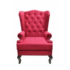 Каминное кресло с ушами Велюр Красный DG-KA-F-SF04-Eni-30
