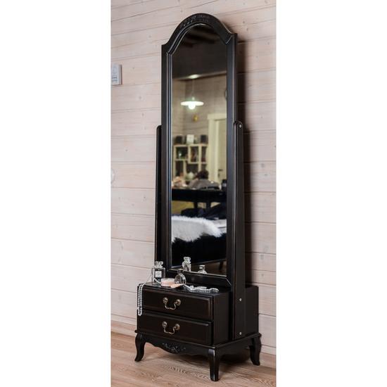 Большое напольное туалетное зеркало черное ST9122N