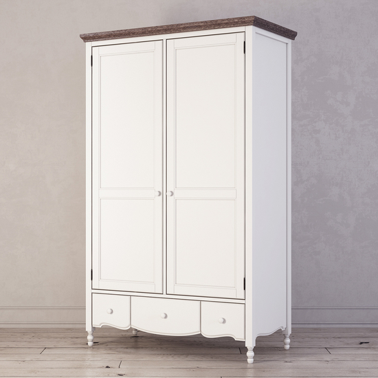 Шкаф двухстворчатый Leblanc, белый