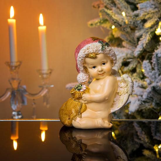 Ангел новогодний с мешочком 15х10х18см A304689