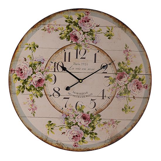 Часы настенные с розами (58см) 50381