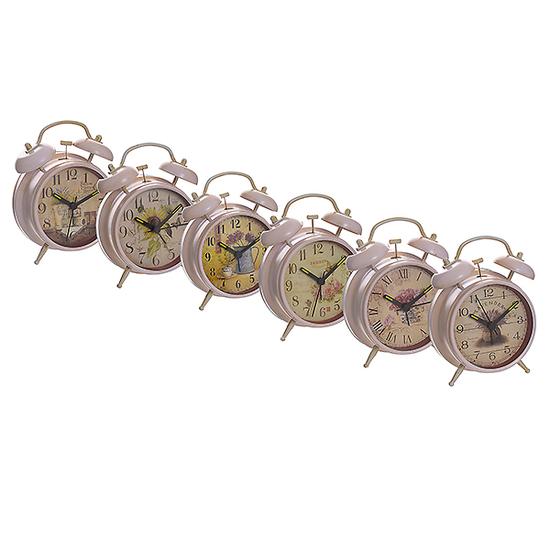 Часы-будильник в ассортименте белый XY800/801(бел)