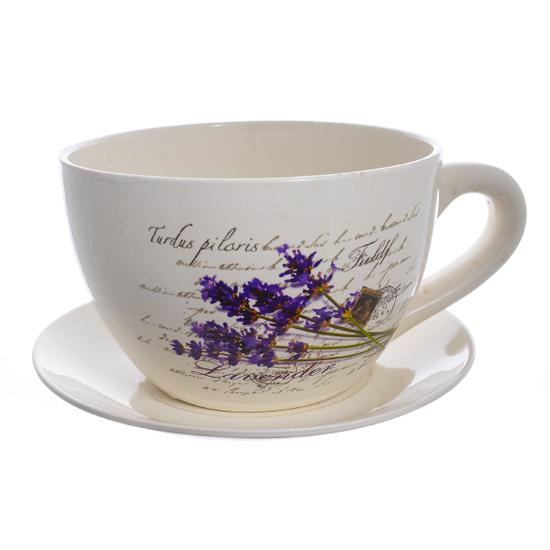 Кашпо- чашка Лаванда 26см 20362 (123)