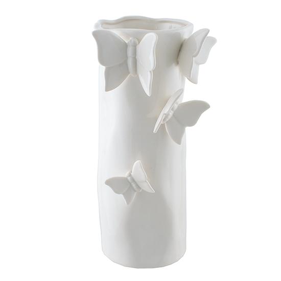 Ваза керамическая с объемными бабочками (10х17) 2916412
