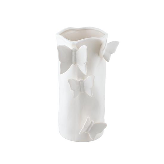 Ваза керамическая с объемными бабочками (12х20) 2916413