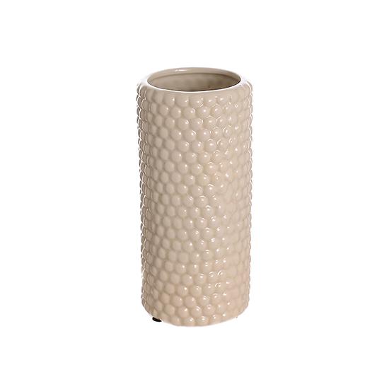 Ваза керамическая бежевая роза (20см) 33G-3
