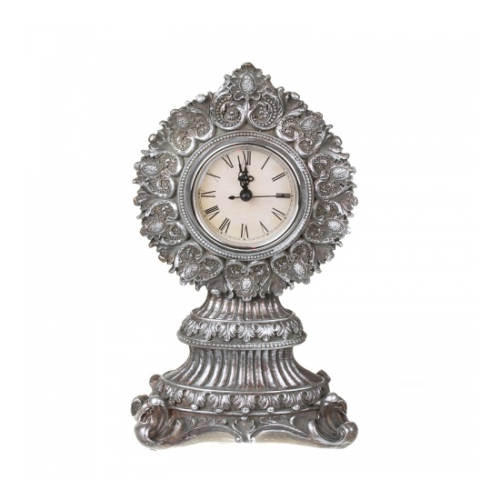 "Часы каминные ""Серебрянный завиток"" 16х9,5х28,5 ALC03S-0005"