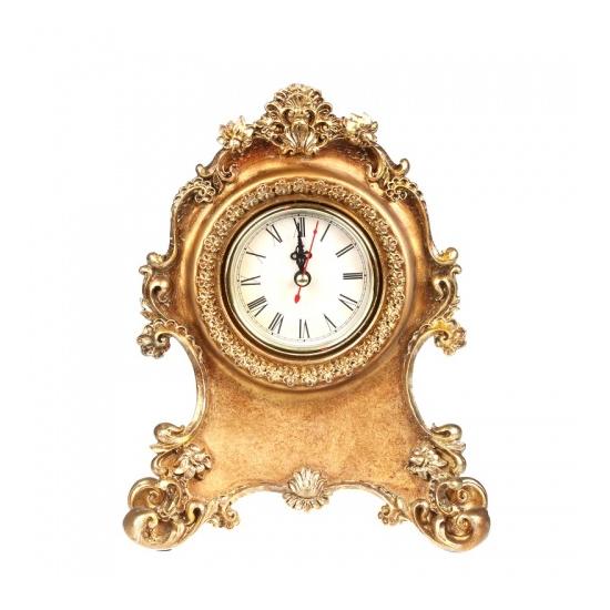 """Часы каминные """"Золотые завитки"""" 18,5x23,5x7 ALC30G-0012"""