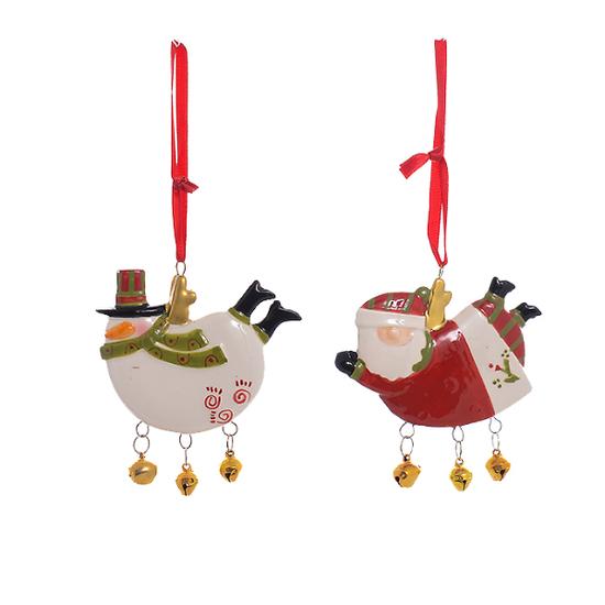Елочная игрушка,подвеска,керамическая (от 12-х шт.) CC1611015