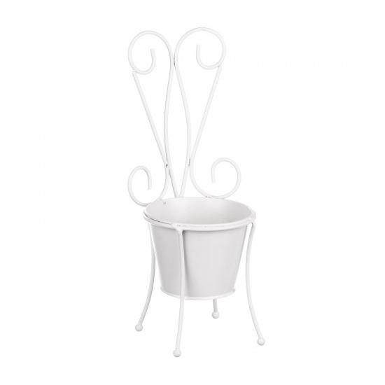 Кашпо- стульчик 11х11х32,5см IU08-0006