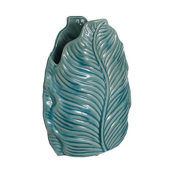 Ваза-листья голубая (28см) L153 гол